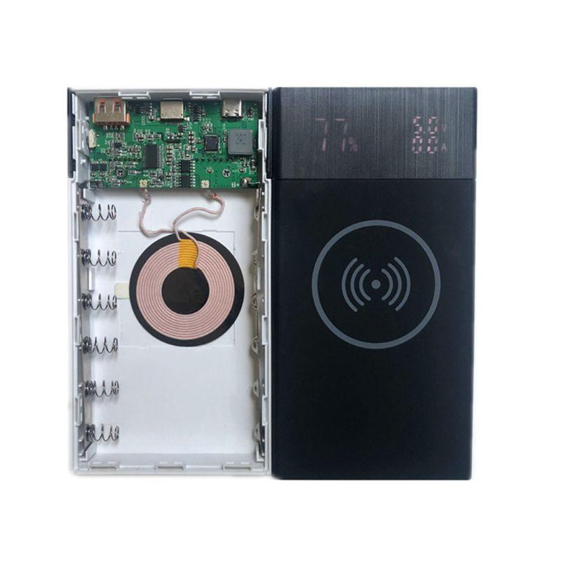 New 6x 18650 Battery Diy Qi Wireless